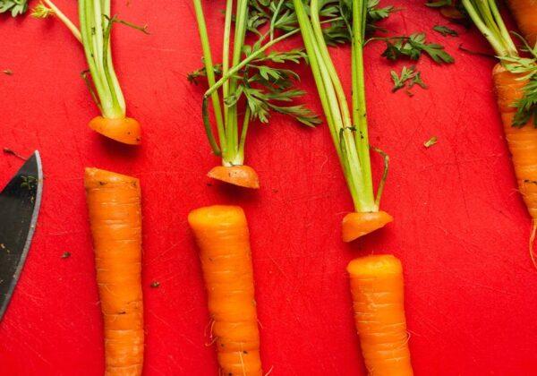 cortar cenouras